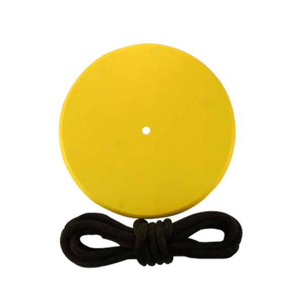 yellow round kids tree swing